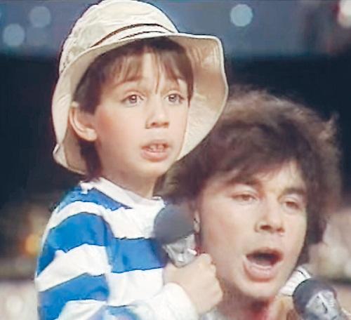 Родион Газманов в детстве с отцом