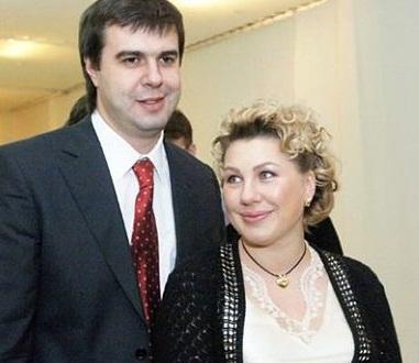Ева Польна с бывшим мужем