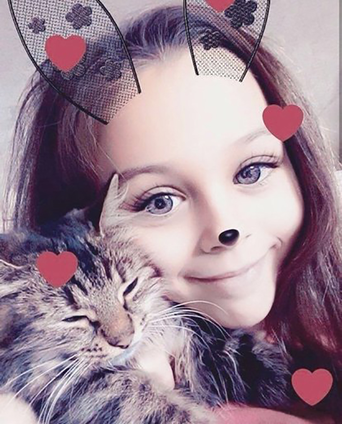 милана некрасова с котом