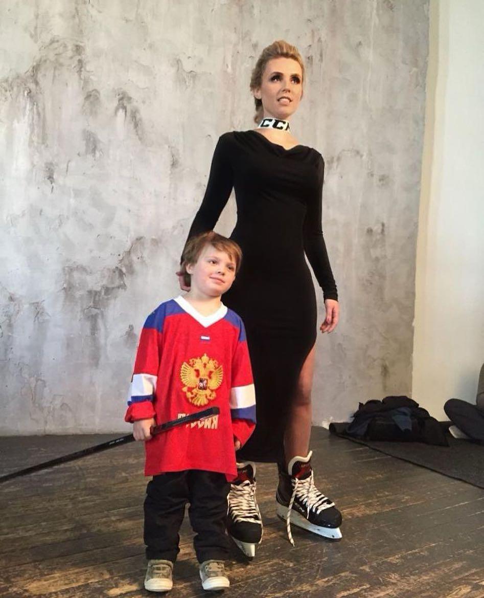 Дарья со своим сыном