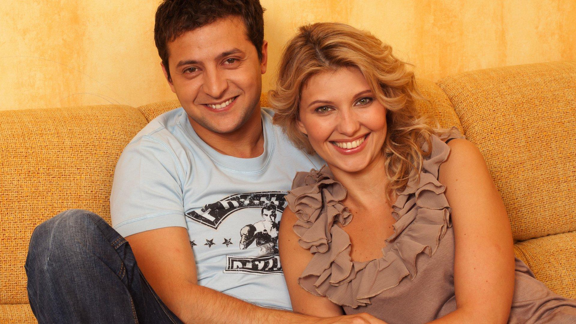 Елена Зеленская со своим мужем Владимиром