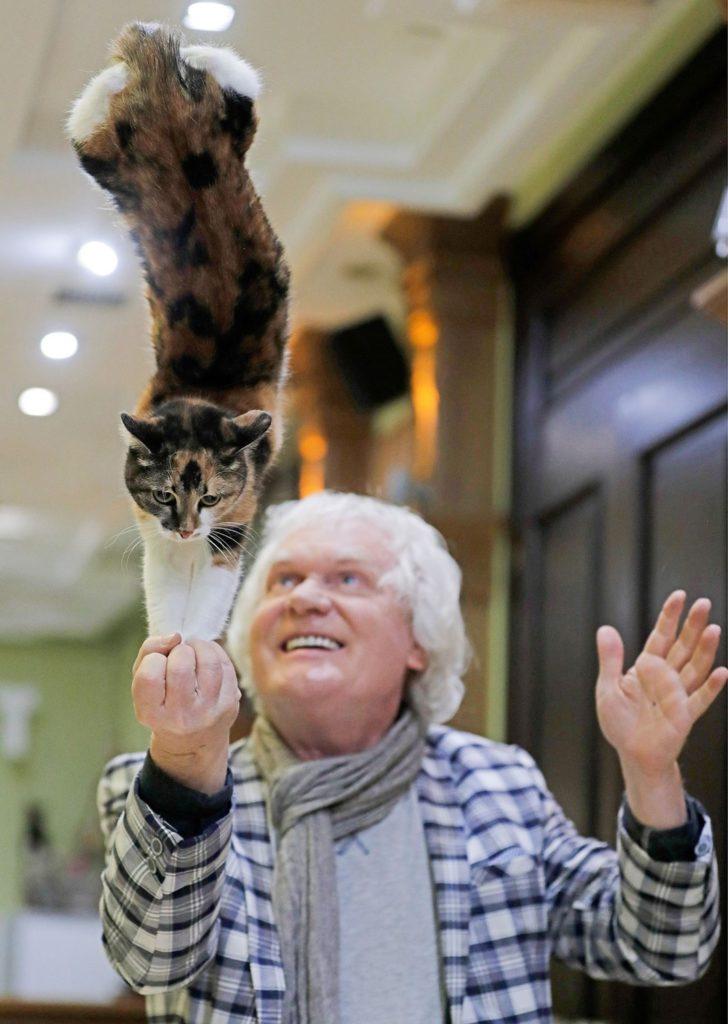 Кошачье вдохновение Юрия Куклачёва: как артист заботится о питомцах